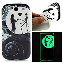 S3 Case, Galaxy S3 Case, SATURCASE Luminous Fluorescent Glow Ultra Thin Soft TPU Gel Silicone Back Case Cover for Samsung Galaxy S3 SIII I9300 (Color-8)