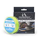 Maxcatch Braided Fly Line Backing for Fly Fishing 20/30lb 100yards (White, Yellow, Orange, Black&White, Black&Yellow)