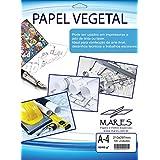 Papel Vegetal, Mares 62671, Multicor, A4, Pacote de 100