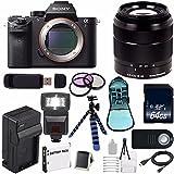 Sony Alpha a7R II Mirrorless Digital Camera (International Model no Warranty) + Sony E-Mount SEL 1855 18-55mm Zoom Lens (Black) + 49mm 3 Piece Filter Kit 6AVE Bundle 8