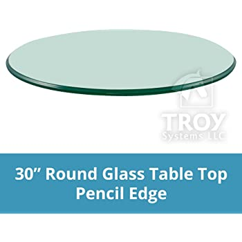 Superieur 30u0027u0027 Round 3/8 Inch Thick Pencil Polished Tempered Glass Table Top