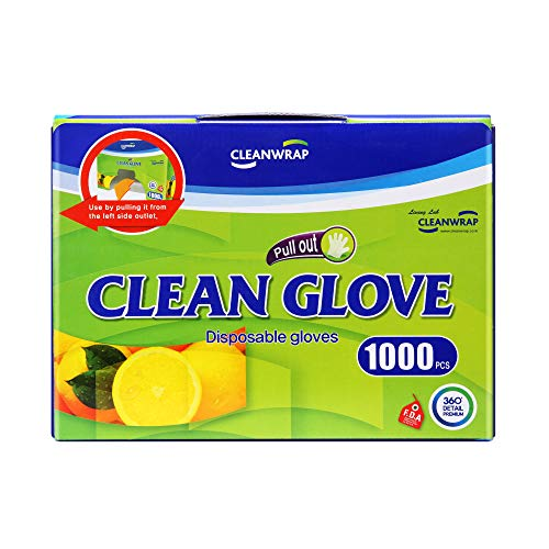CLEAN DISPOSABLE GLOVES 1,000piece, LDPE, BPA