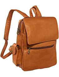 Le Donne Leather Ladies Tech Friendly Backpack,One Size,Tan