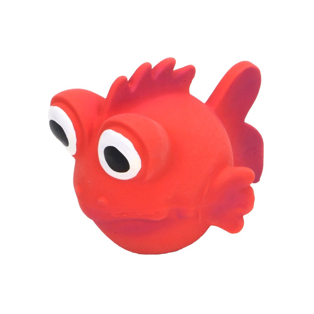 Animal Supply Company CO83242 3.5 in. Rascals Latex goldfish Dog Toy Red