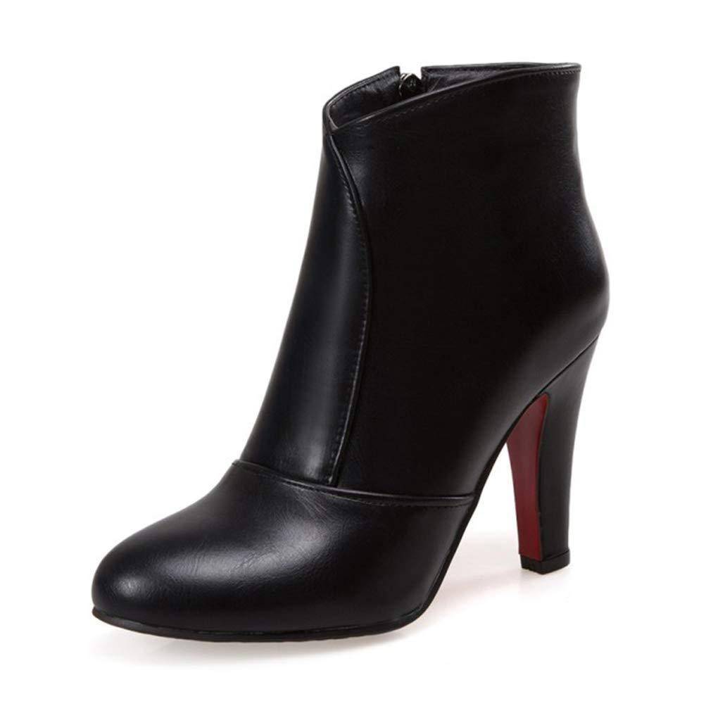 Frauen wies Toe High High High Heels Winter Kurze Plüsch Schuhe lässig Herbst Pumps Chelsea Stiefel Party Stiefeletten 40b47a