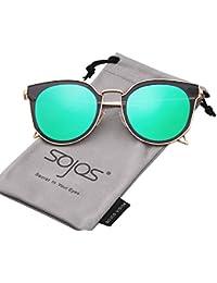 Fashion Polarized Sunglasses UV Mirrored Lens Oversize Metal Frame SJ1057