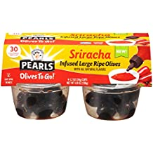 Pearls Olives to Go! Infused Olives Sriracha Flavor  6 Packages of (4) 1.6 Ounce Servings