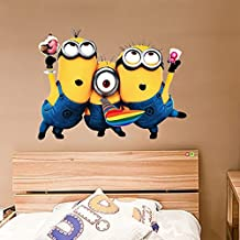 Removable Despicable Me 2 Minions Wall Sticker Decals for Kids Children Bedrooms Decor
