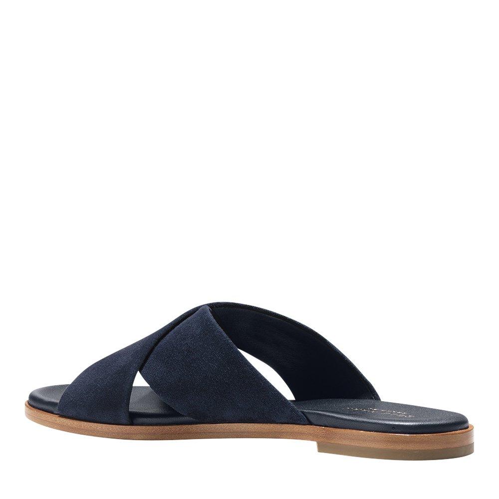 Cole Haan Women's Anica Criss Cross Slide Sandal B074V9TY98 5 B(M) US|Navy Ink Suede