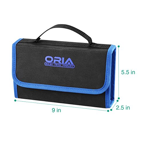 ORIA Precision Screwdriver Set, 86 in 1 Magnetic Repair Tool Kit, Screwdriver Kit with Portable Bag for Game Console, Tablet, PC, Macbook and Other Electronics, Blue