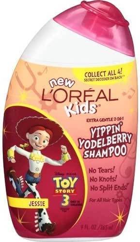 L'Oreal Paris Kids Toy Story 3 / Jessie, Extra Gentle 2-in-1 Shampoo, Yippin Yodelberry 9 fl oz (265mL)
