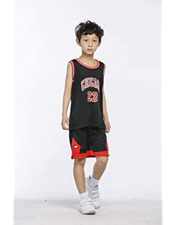 62761132 runvian Camiseta de Baloncesto para Niños, 23 Bulls Jordan / # 23 Lakers  James /
