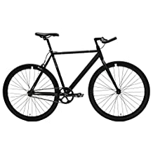 Critical Cycles 2160 Classic Fixed-Gear Single-Speed Bike with Pursuit Bullhorn Bars, 43-Centimeter/X-Small