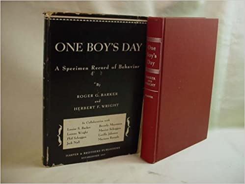 One boy's day; a specimen record of behavior