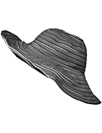Packable Reversible Crusher Sun Shade Beach Hat, Adjustable Wide Shapeable Brim, SPF UPF 50 UV Protection