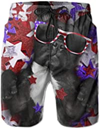 93455b591d French Bulldog with Sunglasses Men's Beach Shorts Swim Trunks