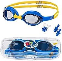 KidSwim Lunettes de Natation pour Enfants âgés de 4 à 12 Ans, sans Fuite, avec lentille antibuée et Sangle en Silicone...