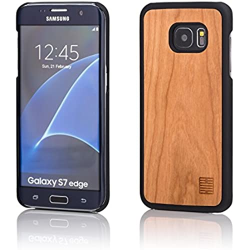 32nd Wooden Back TPU Shell Phone Case Cover for Samsung Galaxy S7 Edge (SM-G935) - Made from Real Wood - Pear Sales