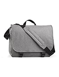 BagBase Two-tone Digital Messenger Bag (Up To 15.6inch Laptop Compartment) (One Size) (Grey Marl)