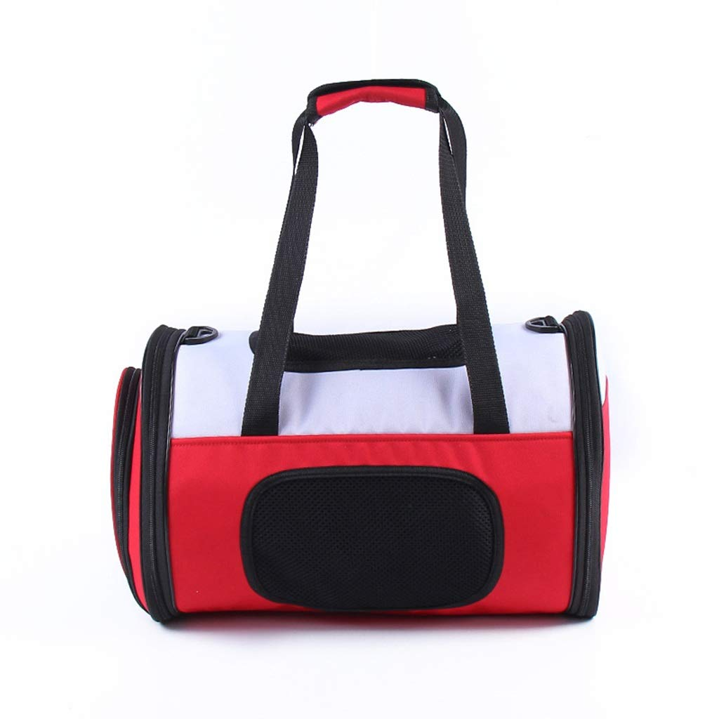 Red Pet Supplies Portable Messenger Bag Travel Large Capacity Bag Simple Breathable Travel Bag (color   Red)