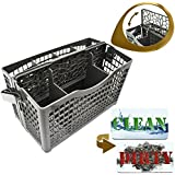 Dishwasher Silverware Replacement Basket Universal - Clean Dirty Magnet Sign - Utensil/Cutlery Holder - Fits Bosch, Maytag, Kenmore, Whirpool, KitchenAid, LG, Samsung, Frigidaire, GE