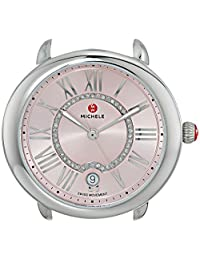 MICHELE Women's 'Serein Mid Head' Swiss Quartz Stainless Steel Casual Watch Head, Color:Silver-Toned