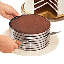 KALREDE Cake Mold Ring from 24-30cm Mousse Cake Mold Mould Round Adjustable Stainless Steel Layer Cake Slicer for Cake, Breads ( 9 Inch to 12 Inch, Easy Clean, Heavy Duty Material )