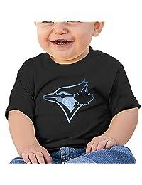 ZSHIWENH Toronto Blue Jays Black Pond Logo Unisex Baby T Shirt