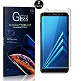 Galaxy A8 Plus 2018 Screen Protector, Bear Village® Tempered Glass Screen Protector [Lifetime Warranty], HD Screen Protector Glass for Samsung Galaxy A8 Plus 2018-2 PACK
