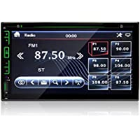 Celendi Double 2 DIN 7 Touchscreen Bluetooth In Dash Car DVD CD Player Car Stereo Audio with FM Radio/SD/USB/AUX-in/Front and Rear View Camera Input/Subwoofer/Steering Wheel controls+Remote Control