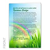 Rainbow Bridge Keepsake Pet Sympathy Card for