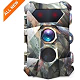 "BanffCliff 16MP 1080P Trail Camera, 0.3s Fast Trigger Motion Activated Hunting Cam up to 98ft (Day) or 82ft (Night), Super Power PIR LEDs Night Vision Waterproof, 2.4"" LCD Screen Wildlife Game Monitor"
