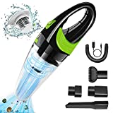 Cordless Handheld Vacuum,Portable Vacuum Cleaner for Home,5000pa High Power Auto Accessories Kit for Detailing and Car Cleaning,Wet and Dry Auto Handheld Vacuum Cleaner for Car