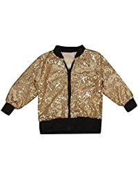 Little Girls Gold Jacket Outwear Size 8 10