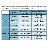 KOVAL INC. 10x10 ft Waterproof 2-Tier Gazebo Canopy Top Replacement Beige