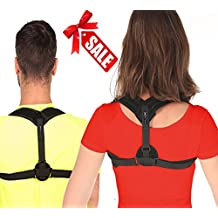 Posture Corrector for Women Men & Teen, Fits ALL - 28 up to 48 inches chest size, FLEX Back Support Brace helps to improve bad posture, shoulder alignment and upper back pain