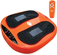 Power Legs Vibration Plate Foot Massager Platform with Rotating Acupressure Heads Multi Setting Electric Foot