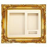 "Gold Swept Ornate Deep Box Frame 12x10"" - Choose Mount"