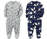 Carter's Boys' 2-Pack Fleece Pajamas (24 Months, Dog/Woodland Creature)