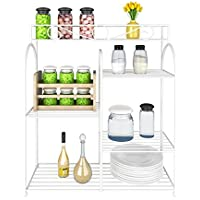 Furinno FNBQ-22133 Yijin Multi-Grid Shelving Unit for Seasoning Bottles, Small