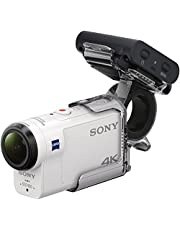 Sony FDR-X3000RFDI 4K Action Cam (mit RM-LVR3 Live View Remote Fernbedienung und Fingergriff AKA-FGP1, Carl Zeiss Tessar Optik, GPS, WiFi, NFC) weiß
