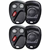 2 KeylessOption Replacement Keyless Entry Remote Key Fob Shell Case and Button Pad Compatible with LHJ011