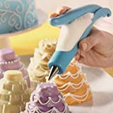 Pastry Icing Piping Set, Cookie Maker Press Gun Kit with 4 Icing Tips, Chocolate Cake Sugar Craft Decorating Pen Tool Set