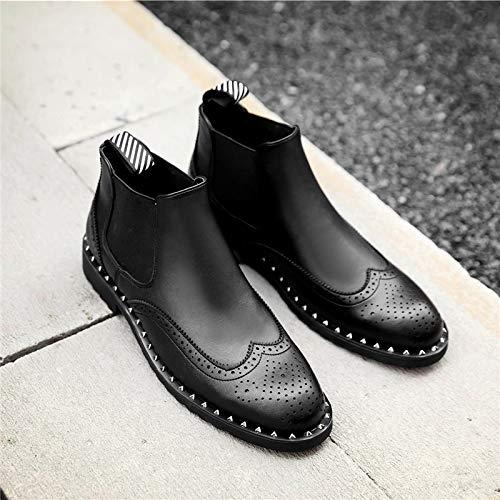 Shukun Herren Stiefel Carved Men's Stiefel Leather Stiefel High schuhe Male Rivet Martin Stiefel