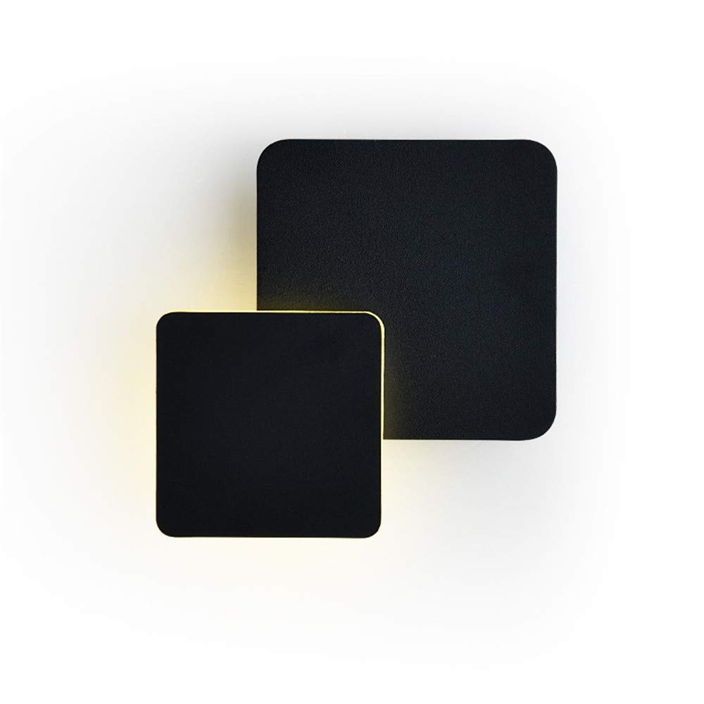 Schwarz Wandbeleuchtung,Wandleuchte Wandleuchte Wandleuchte Wandleuchte, Warmes Weißes Licht Der Modernen Minimalistischen Innennachttischlampe Led Kreative Beleuchtung, Schwarzes