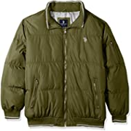 U.S. Polo Assn. Mens Puffer Jacket with Poly Lining