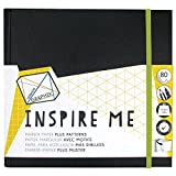 Derwent Medium Sketch Book, Graphik Inspire Me, 80-Pages of Bleed Proof Patterned Paper (2302237)
