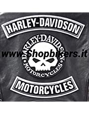 Patches patches applicatieset patches Skull doodskop Willie G.Grande Harley Davidson Gilet vest patches grote XL schouders cadeau-idee embleem sportster Dyna Softail biker Club Electra Glide logo merk