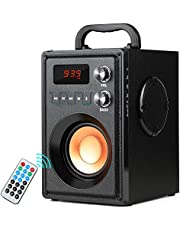 $41 Get TAMPROAD Portable Wireless Bluetooth Speaker 20W Subwoofer Heavy Bass Wireless Stereo Outdoor/Indoor Speakers Support Remote Control FM Radio TF Card LCD Display for Home Party Smartphone Computer PC