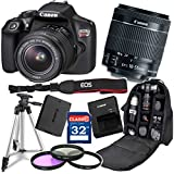 Canon Rebel T6 DSLR 18MP WiFi Enabled + EF-S 18-55mm IS (Image Stabilizer) II Zoom Lens + Professional Backpack Case + 32GB Class 10 Ultra High Speed Memory Card + Floor Standing Tripod